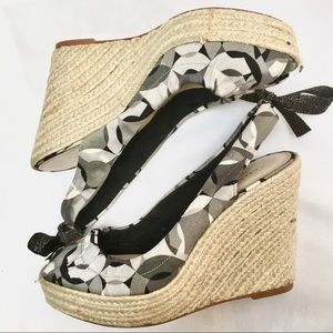 COACH Maritza wedge platform rope print fabric